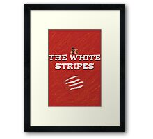 the white stripes Framed Print