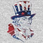 Patriotic Portrait -USA Flag-Stars & Stripes by artonwear