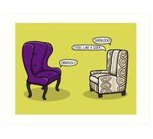 Consulting Armchair and Army Upholstery Art Print