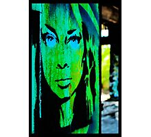 Green Lady with the Blue Eyes Photographic Print