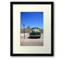 Route 66 - Old Green Chevy Framed Print