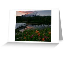 Mount Rainier Summer Greeting Card