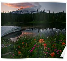 Mount Rainier Summer Poster