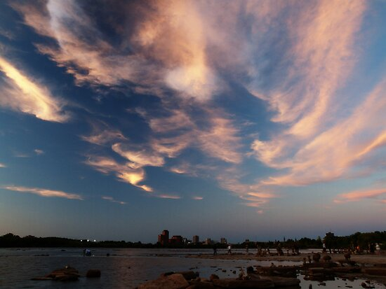 Dusk Skyscape over the Ottawa River by Max Buchheit