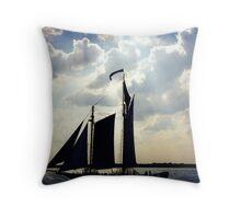 Schooner, New York Throw Pillow