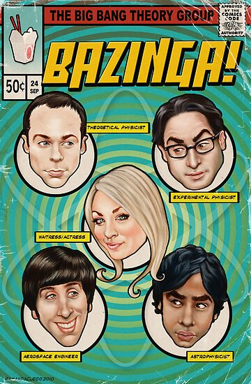 BAZINGA! Comic book Cover Poster by Amanda Clegg