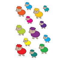 Colourful sheep Photographic Print