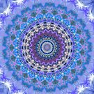 Blue Kaleidoscope Mandala iPhone case by Vicki Field