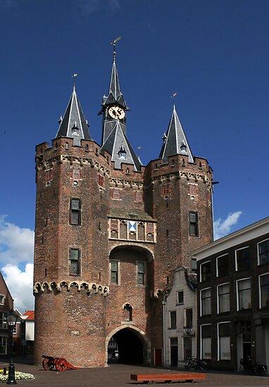 The impressive city gate Sassenpoort by patjila