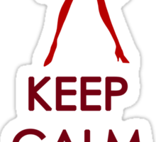 Keep Calm Sailor Mars Clothing Sticker