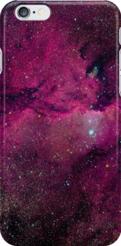 Pink/red space iPhone case.  by Domsbubble