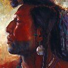 Soldier of his People, Mandan, Native American Art, James Ayers Studios by JamesAyers