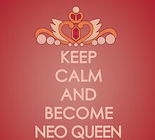Keep Calm - Neo Queen Crown Iphone by SimplySM