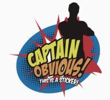 Captain Obvious Sticker by KentZonestar