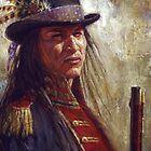 Civilized Warrior, Lakota, Native American Art, James Ayers Studio by JamesAyers