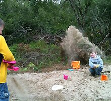 Sand Shower 1 by lareejc