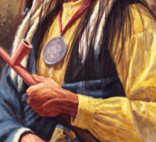 Red Cloud, Native American Art, James Ayers Studios Sticker