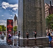 Crown Fountain by Adam Northam