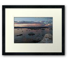 Mono Lake Flocking at Sunset Framed Print