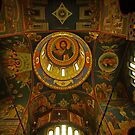 Ceiling, Serbian Orthodox Church of St Cyril and St Methodius, Ljubljana by Margaret  Hyde
