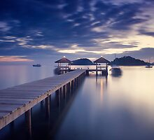 Pier at twilight by yurybird