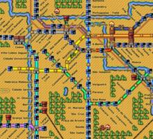 São Paulo City Metropolitan Transportation Map Sticker