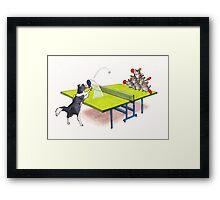 Chinchilla Ping Pong Framed Print