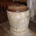 Romanesque font, St James church, Avebury by Ross Sharp