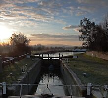 Grove Lock Sunrise by Dale Rockell