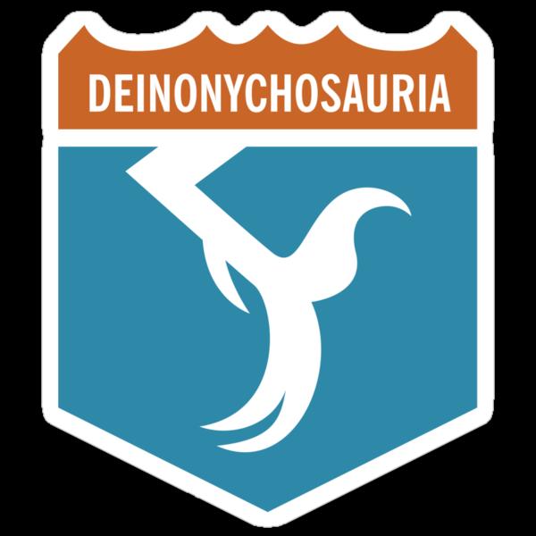 Dinosaur Family Crest: Deinonychosauria by David Orr