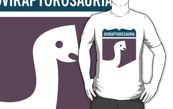 Dinosaur Family Crest: Oviraptorosauria by David Orr