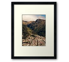 Foothills in the Andes Mountains Framed Print