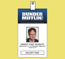 Dwight Schrute The Office ID Badge Shirt by zorpzorp