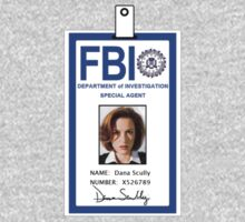 X-Files Dana Scully ID Badge Shirt by zorpzorp