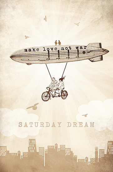 Saturday Dream - Love and Peace Flight by BelleFlores