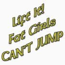 Lift It Fat Girls Cant Jump Yellow sticker by thatstickerguy