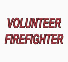 VOLUNTEER FIREFIGHTER red sticker by thatstickerguy