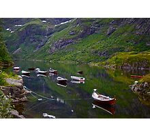 Conquest to Paradise. Visit Lofoten. Å  is one of Norway's most authentic traditional fishing villages. july 2012. by Andy Brown Sugar. Photographic Print