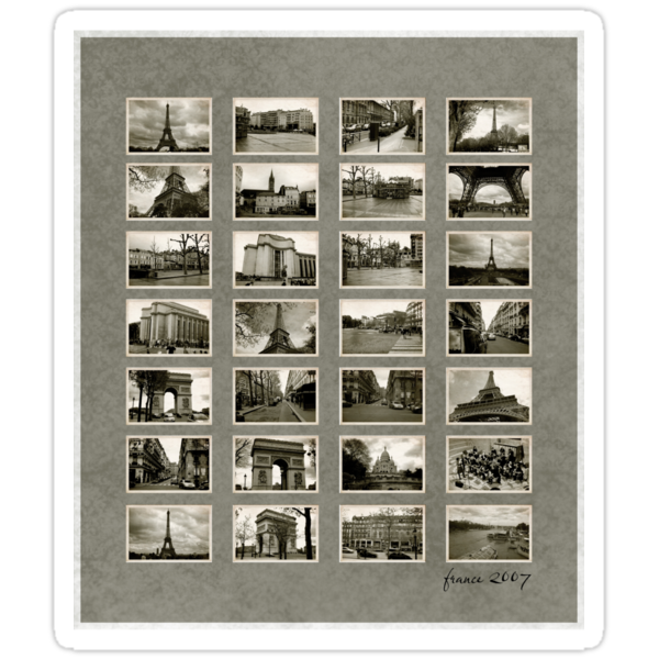 France 2007 Vintage Contact Sheet by ea-photos