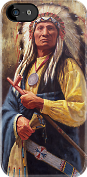 Red Cloud, Native American Art, James Ayers Studios by JamesAyers