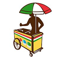 Italian Ice Push Cart Retro by patrimonio