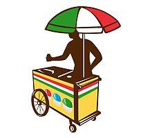 Italian Ice Push Cart Retro by patrimonio