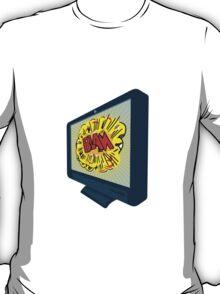 LCD Plasma TV Television Blam T-Shirt