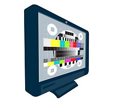 LCD Plasma TV Television Test Pattern by patrimonio