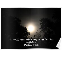 """Psalm 77:6""  by Carter L. Shepard Poster"