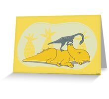 Protoceratops and Shuuvuia Greeting Card