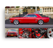 Keith Keily's 1966 Ford Mustang Coupe - Poster Canvas Print