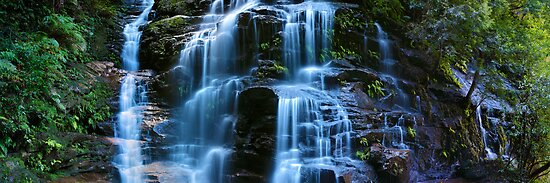 Sylvia Falls, Blue Mountains, New South Wales, Australia by Michael Boniwell