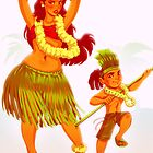 Hula girl by EddieHolly