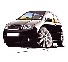 Skoda Fabia vRS Black Photographic Print